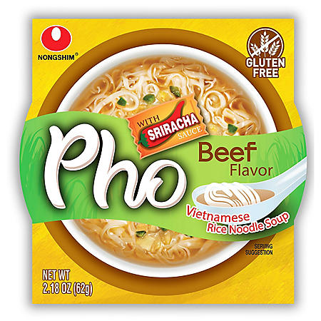 Nongshim Pho Beef Rice Noodle Bowl 6 Pk Sam S Club