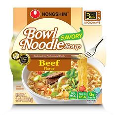 Nongshim Savory Beef Bowl Noodle Soup (3.03 oz., 12 ct.)