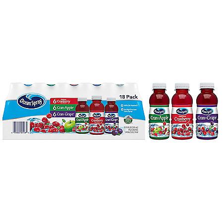 Ocean Spray Juice Drink Variety Pack (10oz / 18pk)
