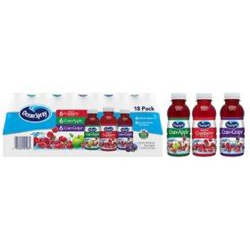 Ocean Spray Juice Drink Variety Pack (10 oz., 18 pk.)