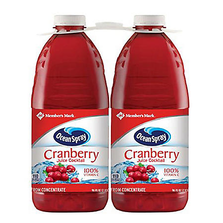 Member's Mark Cranberry Juice Cocktail by Ocean Spray (96 fl. oz., 2 pk.)
