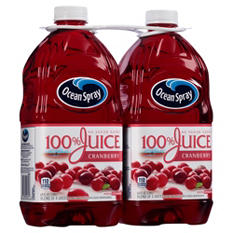 Ocean Spray 100% Juice, Cranberry (64 fl. oz. bottles, 2 ct.)