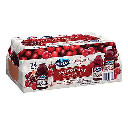 Ocean Spray Antioxidant Juice Variety Pack (10 oz., 24 pk.)