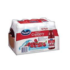 Ocean Spray Cranberry Juice - 12/15.2 oz. btls.