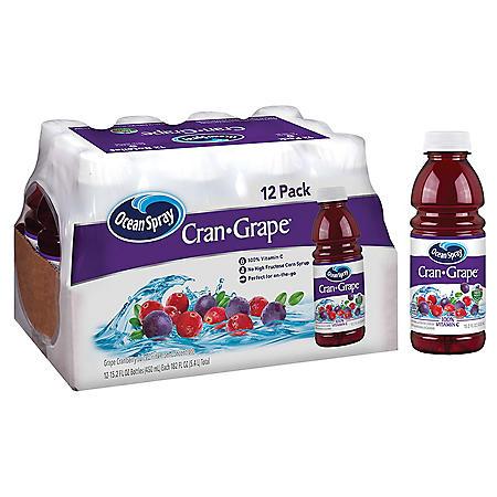 Ocean Spray Cranberry Grape Juice Cocktail (15.2 oz., 12 pk.)