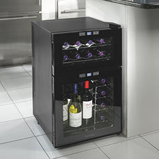 Wine Enthusiast 24-Bottle Silent Dual-Zone Touchscreen Wine Cooler