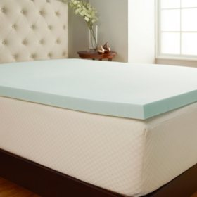 "Comfort Tech 2"" Foam Mattress Topper with Cover (Assorted Sizes)"