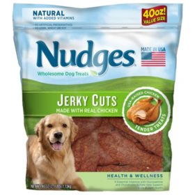 Nudges Health & Wellness Chicken Jerky Dog Treats, 40 oz.