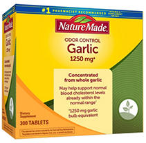Nature Made Odor Control Garlic 1,250 mg Tablets, (300 ct.)