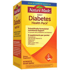 Nature Made® Daily Diabetes Health Pack Dietary Supplement (60 pk.)