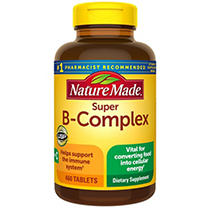 Nature Made Super B-Complex Tablets, 460 Count for Metabolic Health
