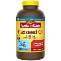 Nature Made Flaxseed Oil, 1400 mg Softgels, for Heart Health (300 ct.)