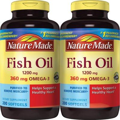 Nature Made Fish Oil 200 Ct 2 Pk Sam S Club