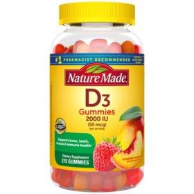 Nature Made Vitamin D3 50 mcg Gummies (275 ct.)