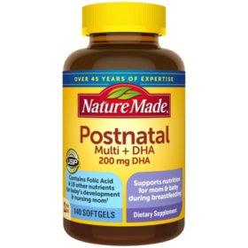 Nature Made Postnatal Multi + DHA Softgels (140 ct.)