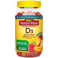 Nature Made Extra-Strength Vitamin D3 5000 IU (125 mcg) Gummies (200 ct.)