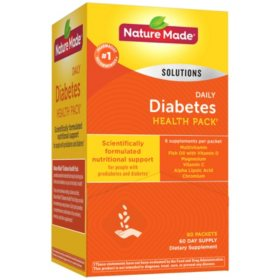 Nature Made? Daily Diabetes Health Pack Dietary Supplement (60 pk.)