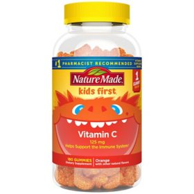 Nature Made Kids First Vitamin C Gummies, Helps Support the Immune System (180 ct.)
