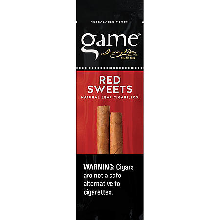 Game Red Sweets Mini Cigars, Prepriced 3/$1.29 (3 ct., 15 pk.)