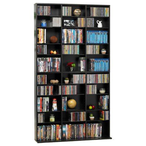 Atlantic Oskar 1080 CD Media Cabinet - Espresso
