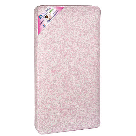 Sealy Ortho Rest Waterproof Infant/Toddler Crib Mattress, Pink