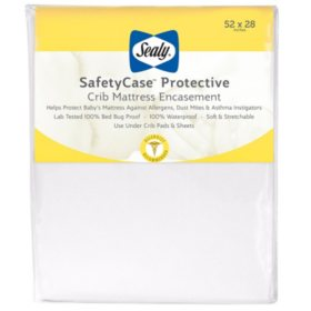 "Sealy SafetyCase Protective Infant/Toddler Crib Mattress Encasement (52"" x 28"" x 6.5"")"