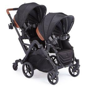 Contours Curve Double Stroller, Black