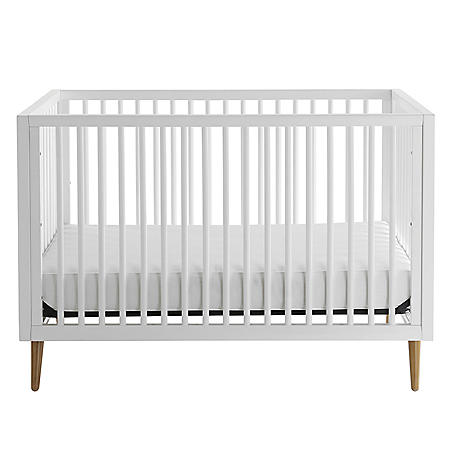Kolcraft Roscoe 3-in-1 Standard Crib, White and Maple Finish