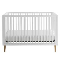 Contours Roscoe 3-in-1 Standard Crib, White and Maple Finish