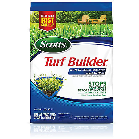 Scotts Turf Builder Halts Crabgrass Preventer with Lawn Food, 37.38 lb.