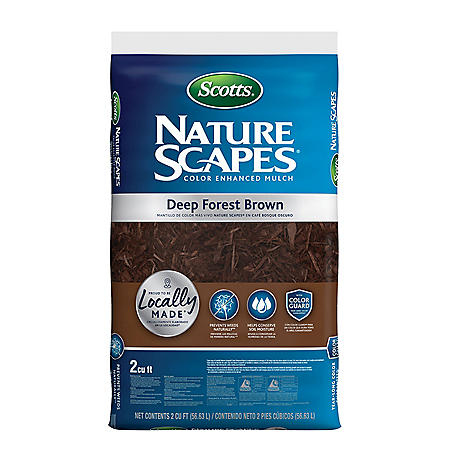 Scotts Nature Scapes Color Enhanced Mulch - Deep Forest Brown