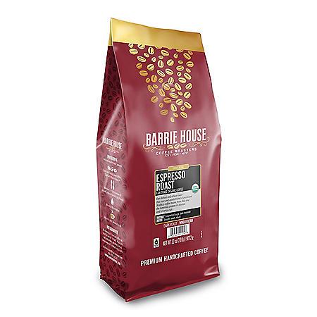 Barrie House Fair Trade Organic Whole Bean Coffee, Espresso (32 oz.)