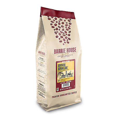Barrie House Fair Trade Organic Whole Bean Coffee, Jammin Jamaican (32 oz.)
