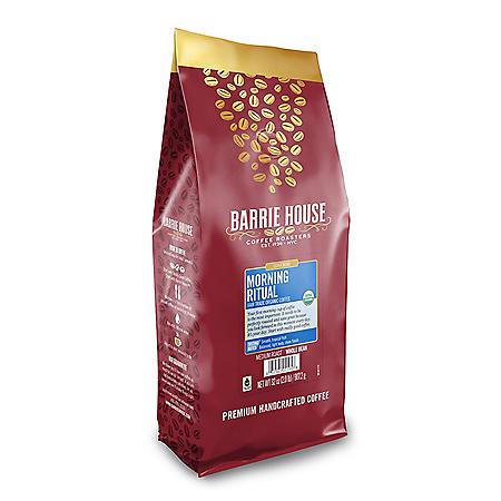 Barrie House Fair Trade Organic Whole Bean Coffee, Morning Ritual (32 oz.)