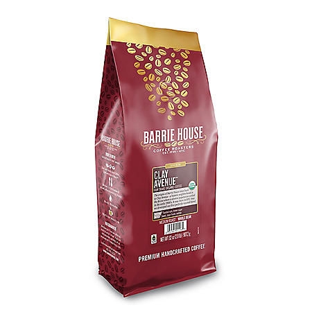 Barrie House Fair Trade Organic Whole Bean Coffee, Clay Avenue (32 oz.)