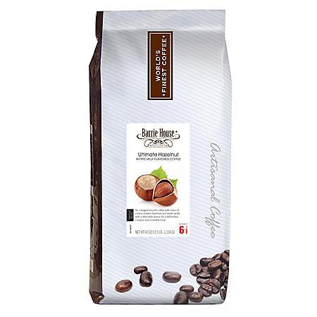Barrie House Whole Bean Coffee, Ultimate Hazelnut (40 oz.)
