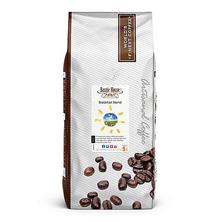 Barrie House Whole Bean Coffee, Breakfast Blend (40 oz.)