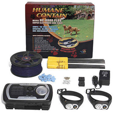 High Tech Pet Humane Contain HC-8000-Plus, Super Electronic Dog Fence with Extra Collar