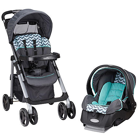 Evenflo Vive Travel System with Embrace Infant Car Seat (Choose Your Color)