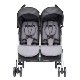 Evenflo Minno Twin Double Stroller, Glenbarr Gray