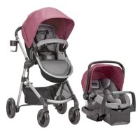 Evenflo Pivot Modular Travel System with SafeMax Car Seat (Choose Your Color)