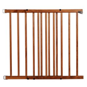Evenflo Walk-Thru Top-of-Stairs Baby Gate, Farmhouse Collection