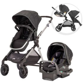 Evenflo Pivot Xpand Travel System with SafeMax Infant Car Seat (Choose Your Color)
