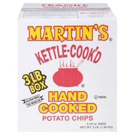 Martin's Kettle-Cook'd Potato Chips - 3 lb. box