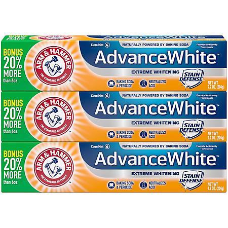 Arm & Hammer Advance White Extreme Whitening Toothpaste (7.2 oz., 3 pk.)