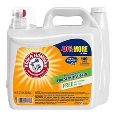 Arm & Hammer 2X Concentrated Liquid Laundry Detergent for Sensitive Skin (210 oz.)