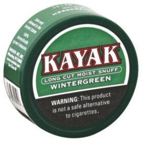 Kayak Long Cut Moist Snuff Wintergreen (5 ct.)