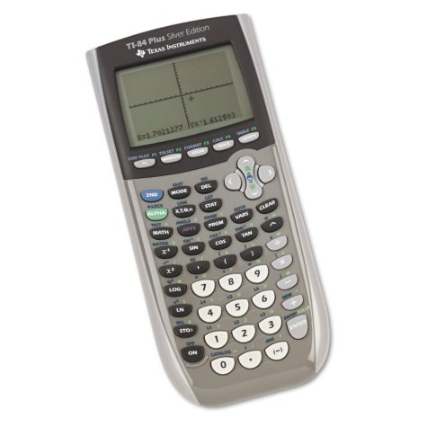 Texas Instuments TI-84 Plus Silver Programmable Graphing Calculator, 10- Digit LCD