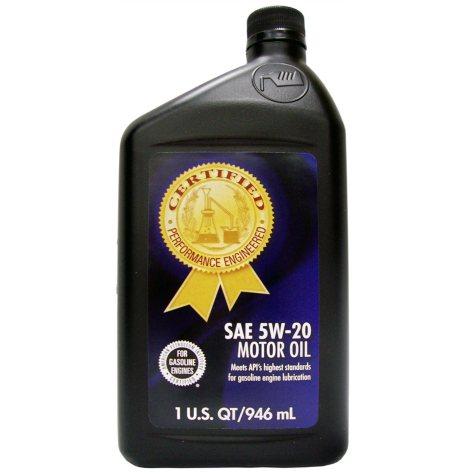 Certified SAE 5W-20 Motor Oil - 1 qt. bottles - 12 pk.
