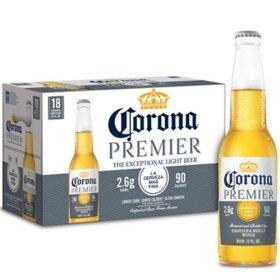 Corona Premier Mexican Lager Light Beer (12 fl. oz. bottle, 18 pk.)